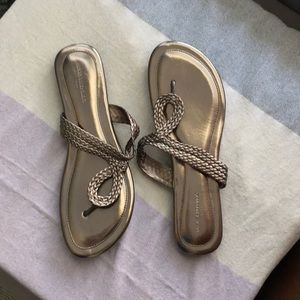 Banana Republic metallic sandals